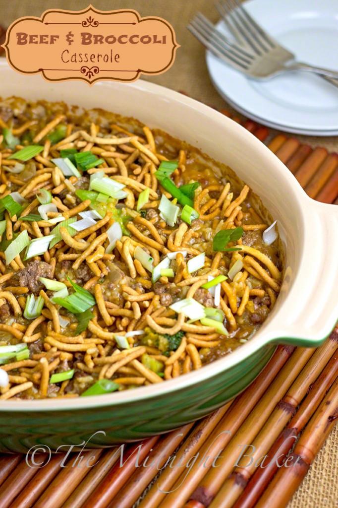Crunchy Beef & Broccoli Casserole #casseroles #GroundBeef #BeefAndBroccoli