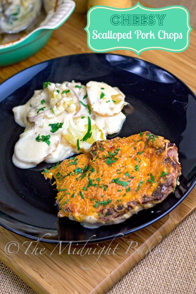 Cheesy Scalloped Pork Chops #PorkChops #PorkChopCasserole #ScallopedPotatoes
