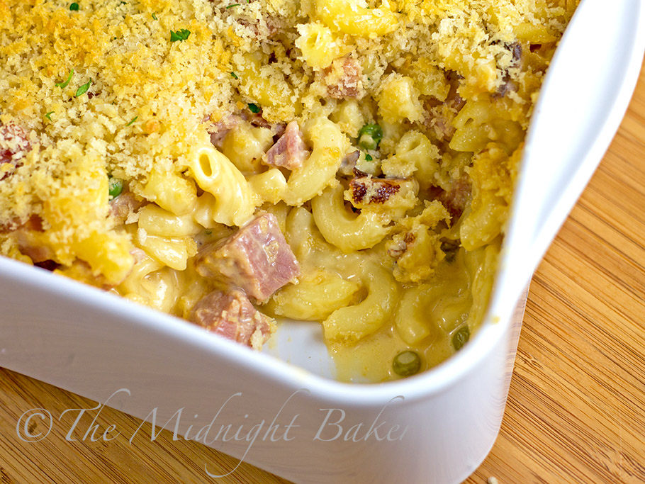 Ham Macaroni & Cheese #LeftoverHamRecipes #Easter #MacaroniAndCheese