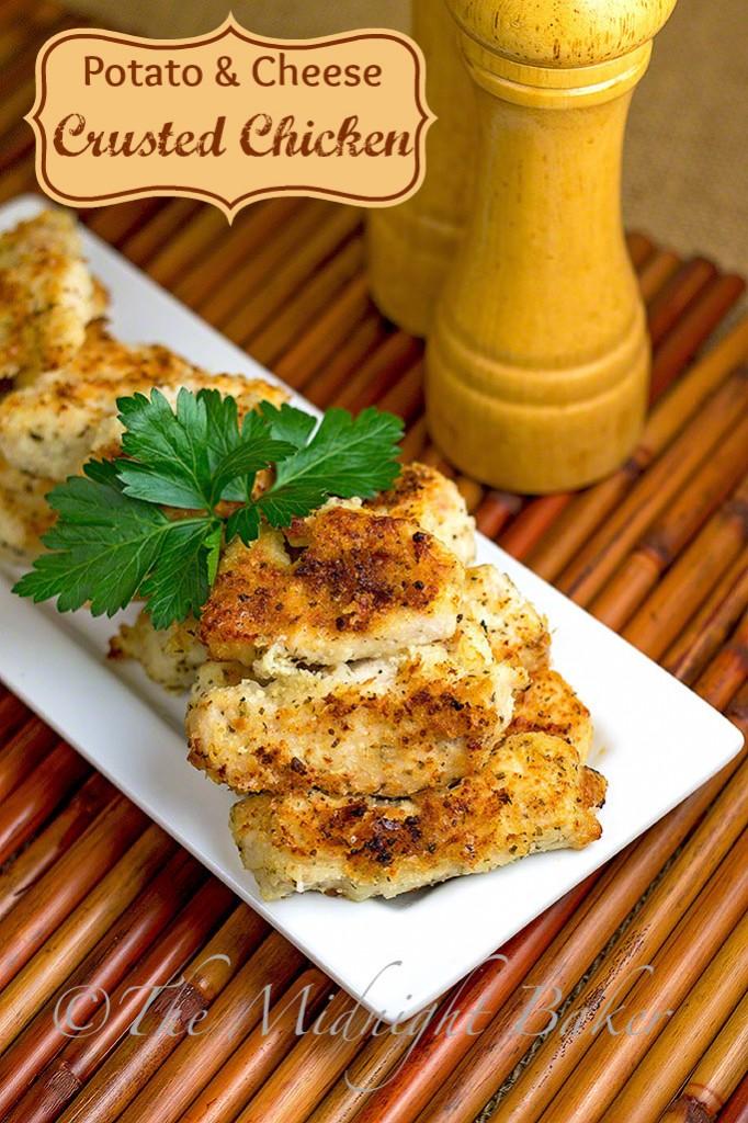 Potato Cheese Crusted Chicken #ChickenBreastRecipe #PotatoCrustedChicken #EasyChickenDinners