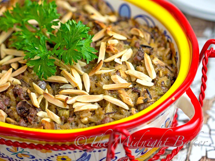 Creamy Beef & Wild Rice Casserole #GroundBeefRecipes #GroundBeefCasseroles #TemptationsByTara