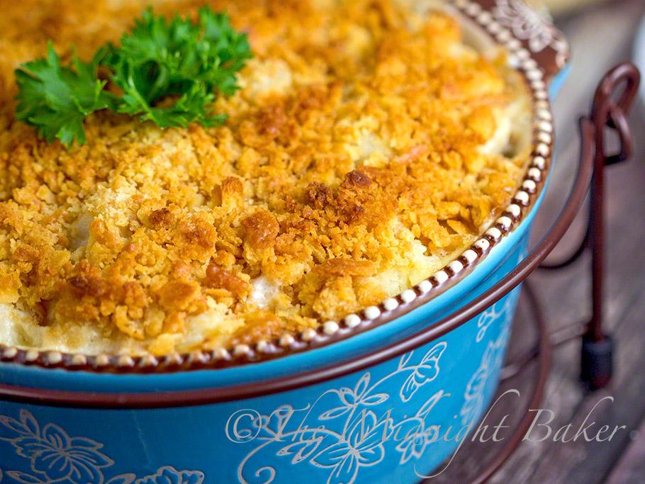 Choose-Your-Cheese Cauliflower Casserole #SideDishes #CauliflowerCasserole #AuGratin #TemptationsByTara