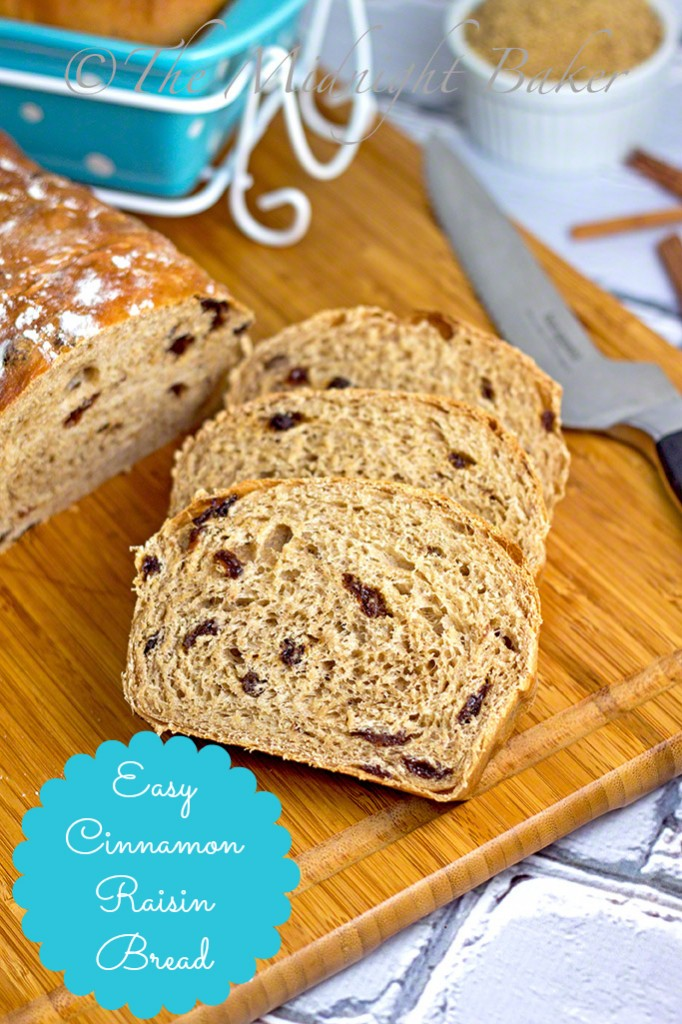 Easy Cinnamon Raisin Bread #CinnamonRaisinBread #BreadMachineRecipes #Temp-TationsByTara