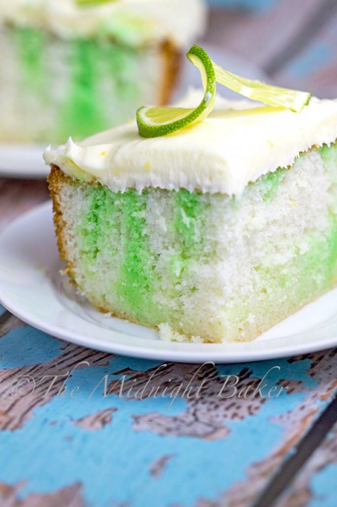 Lemon-Lime Luscious Cake #PokeCake #LemonCake, #LemonFrosting