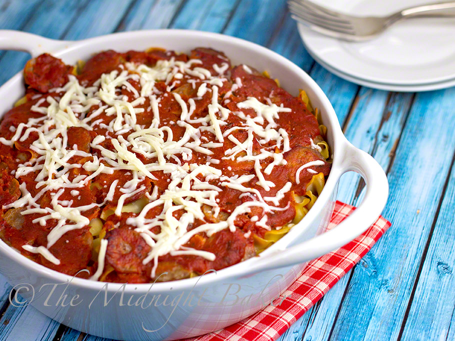 Fake Lasagna #lasagna #NoodleCasserole #NoodlePudding