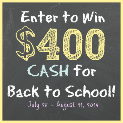 Enter to Win $400 Cash For Back-To-School! - The Midnight Baker