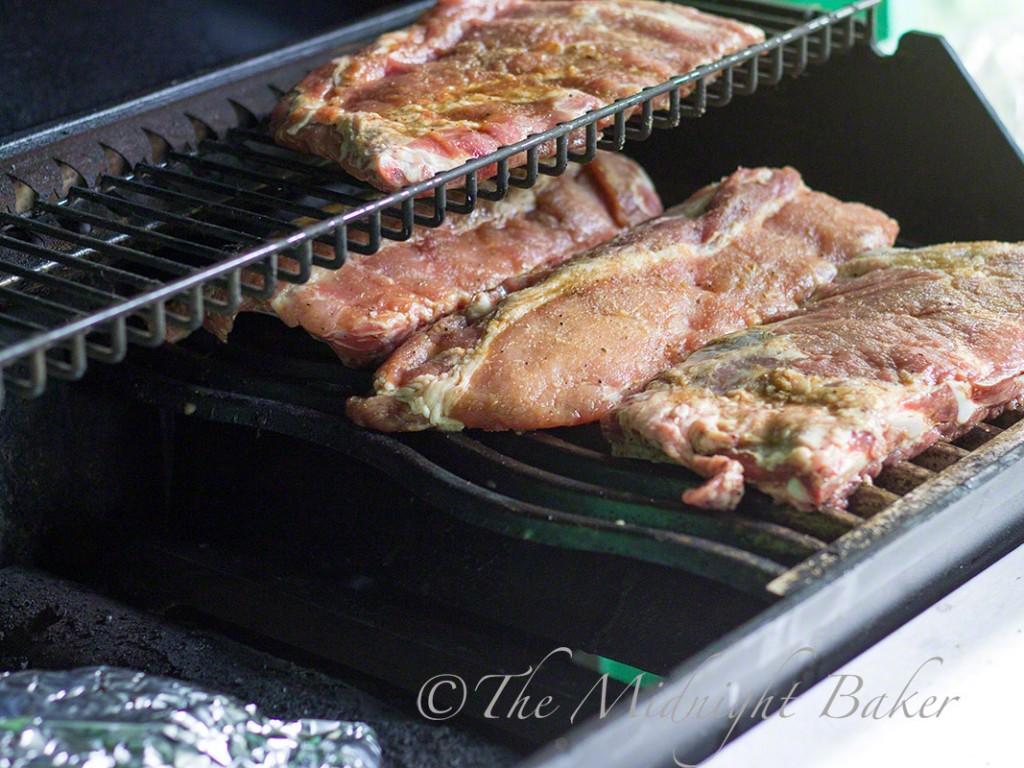 Food on Gas Grill for Smoking #gasgrill #smokedfood #smoker