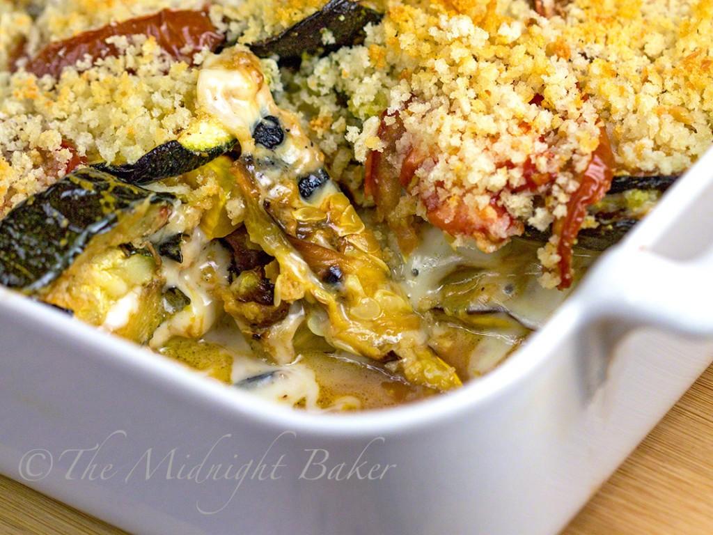 Roasted Squash Lasagna | bakeatmidnite.com | #vegetarian #lasagna #zucchini