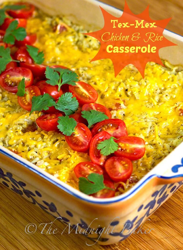 Tex Mex Chicken & Rice #TexMexRecipes | bakeatmidnite.com | #Casseroles #ChickenAndRice