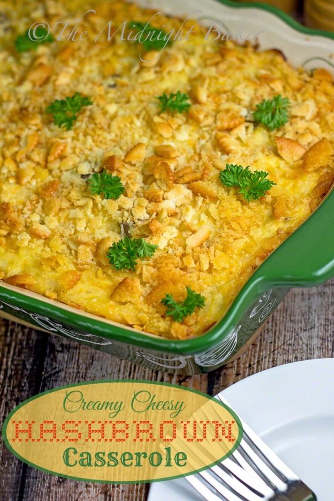Creamy Hashbrown Cheese Casserole | bakeatmidnite.com | #sidedishes #hashbrowncasserole #crackerbarrelhashbrowncasserolecopycat