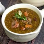 Slow Cooker Sausage Lentil Soup