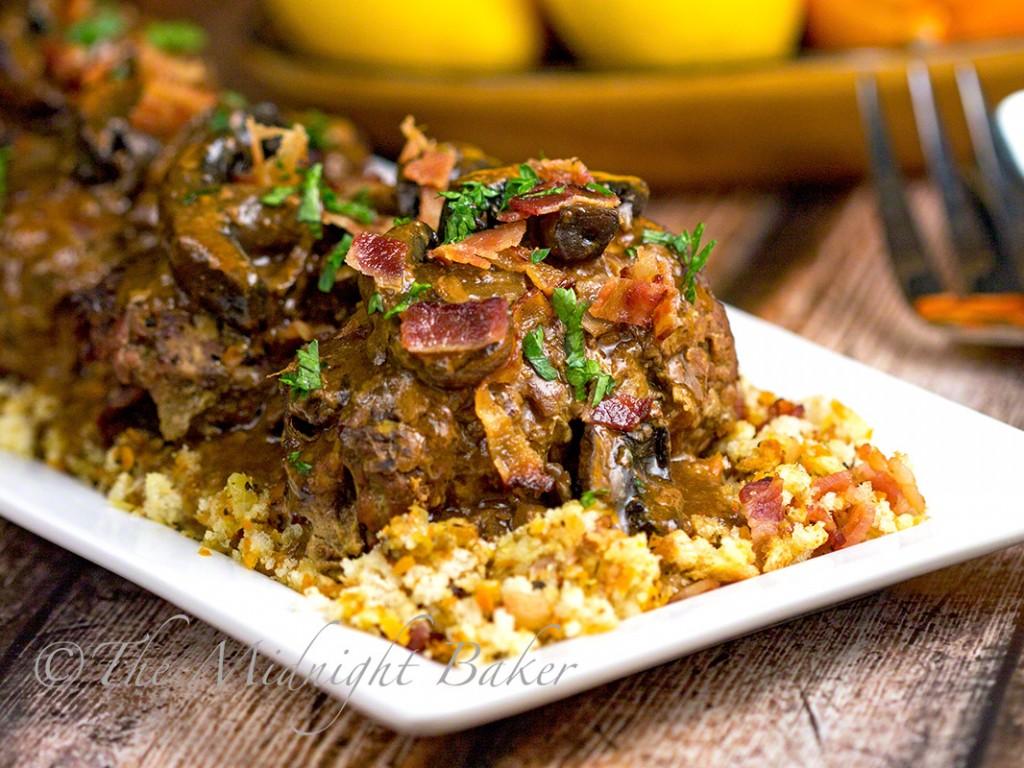Slow Cooker Stuffed Beef Rolls | bakeatmidnite.com | #slowcooker #crockpot #beef #rouladen