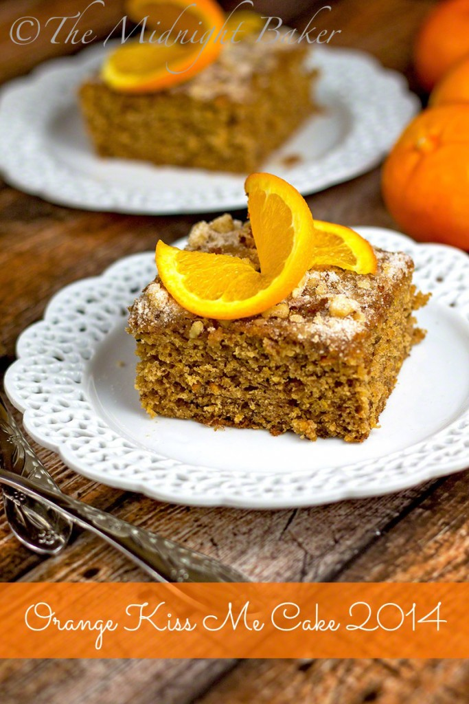 Orange Kiss Me Cake 2014 | bakeatmidnite.com | #fruitcakes #dessert #kitchenaidmixer #kitchenaidfoodprocessor