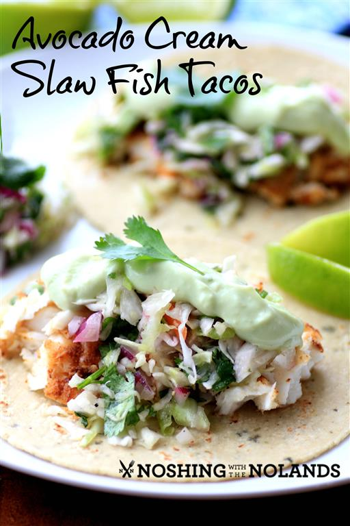 Avocado Cream Fish Tacos