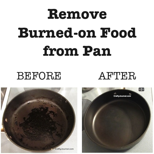 remove burned food from a pan