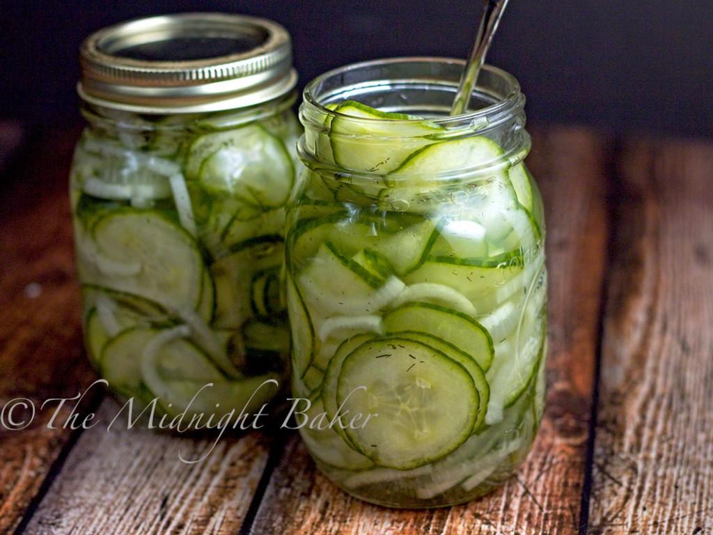 Cucumber Dill Salad | bakeatmidnite.com | #salads #pickles #cucumbers