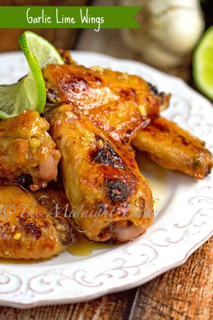 Garlic Lime Wings | bakeatmidnite.com | #wings #lime #garlic #appetizers
