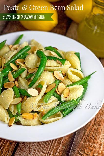 Pasta & Green Bean Salad   bakeatmidnite.com   #salad #pasta #vegetarian