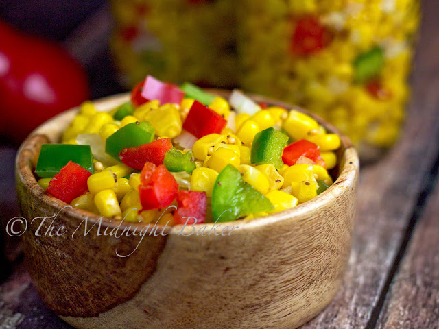 Corn Relish | bakeatmidnite.com | #corn #relish #recipe #summer