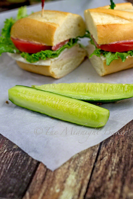 Half Sour Pickles | bakeatmidnite.com | #pickles #cucumbers #recipe