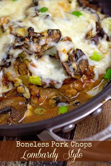 Boneless Pork Chops Lombardy Style | bakeatmidnite.com | #pork #casseroles #recipe
