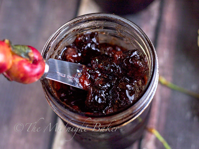 Slow Cooker Cherry Jam | bakeatmidnite.com | #slowcooker #crockpot #jam #jelly