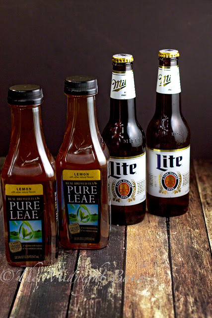 Msg 4 21+Miller Lite & Pure Leaf Tea | bakeatmidnite.com | Msg 4 21+ #HouseofBBQ #ad
