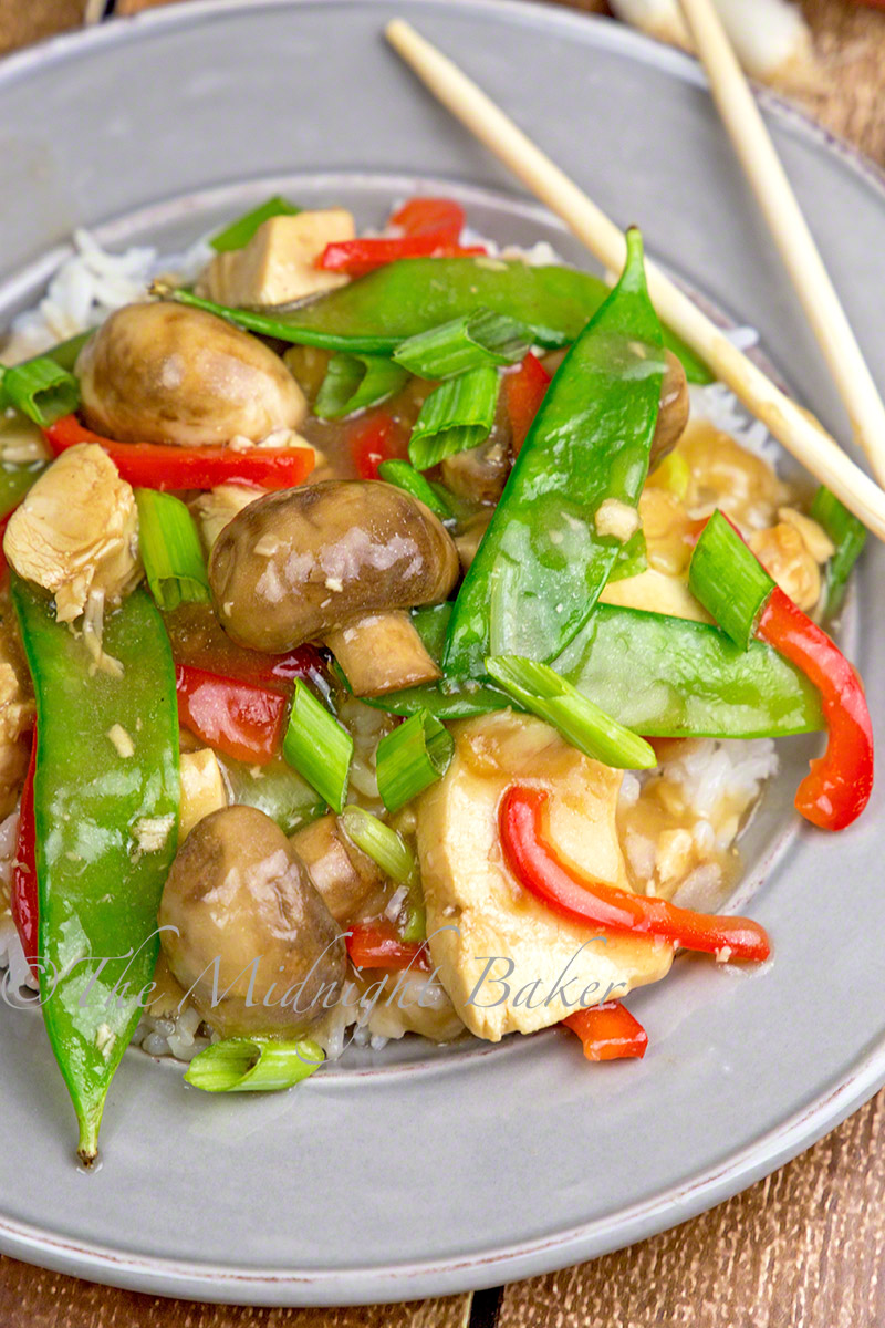 Asian Chicken with Mushrooms