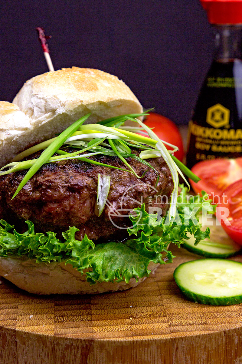 Burgers with an Asian flair and a bit of crunch from water chestnuts
