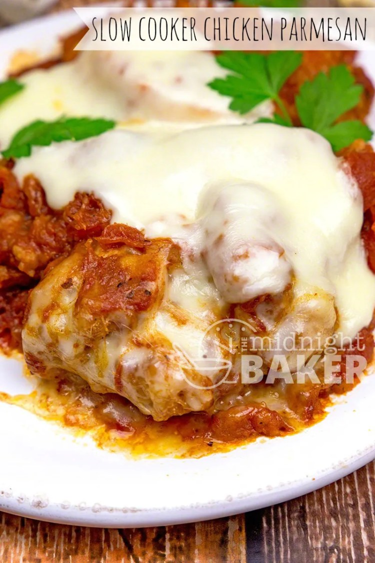 Slow Cooker Chicken Recipes, slow cooker chicken parmesan