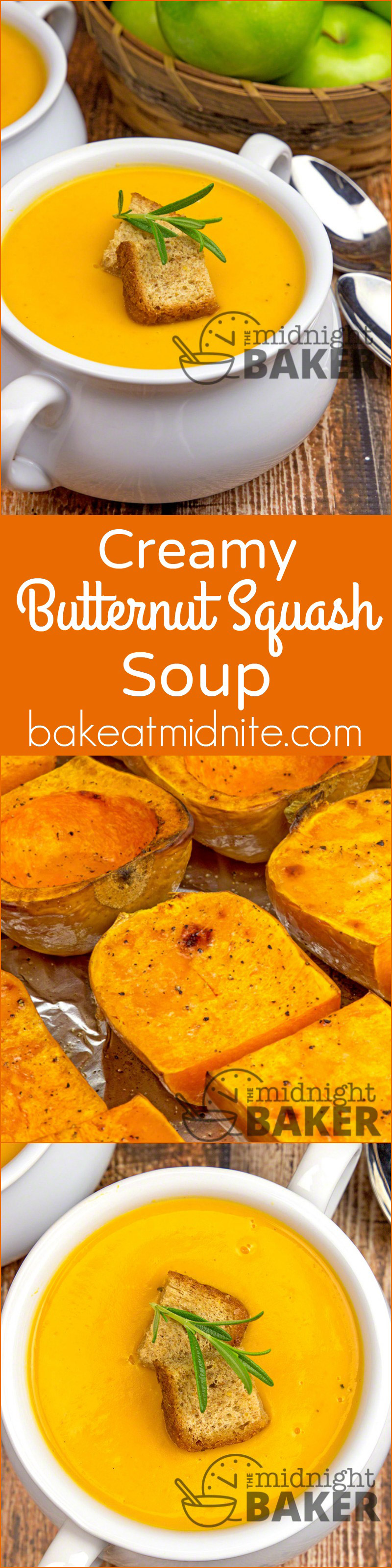 "Nothing says ""fall"" better than roasted butternut squash made into a creamy soup!"