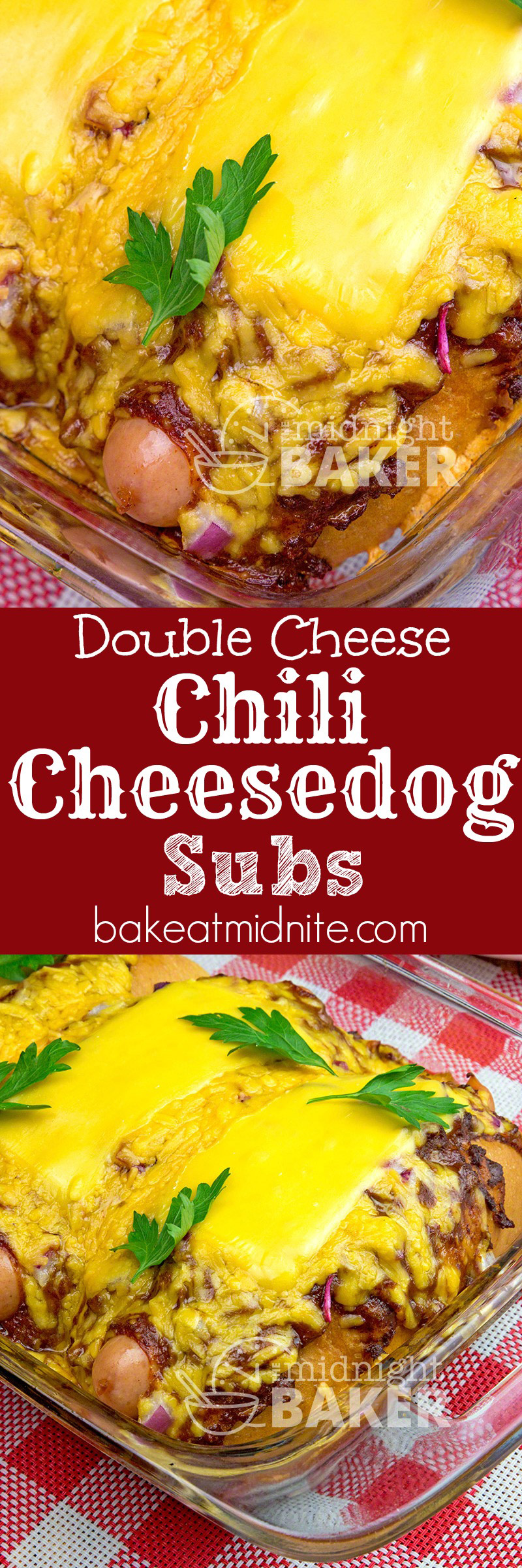 King of the chili cheesedog has double the cheese and baked in a sub roll.