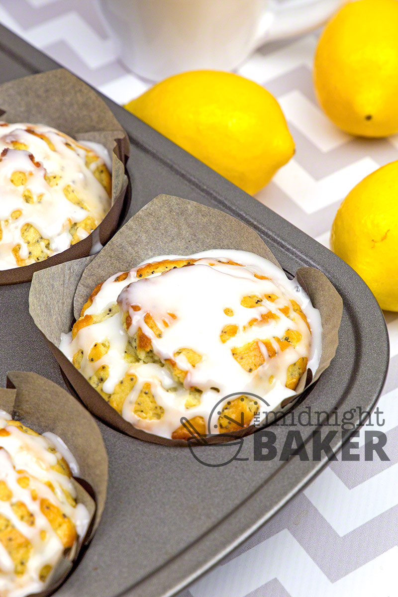 Sour cream gives these lemon poppy muffins their soft and tender texture.