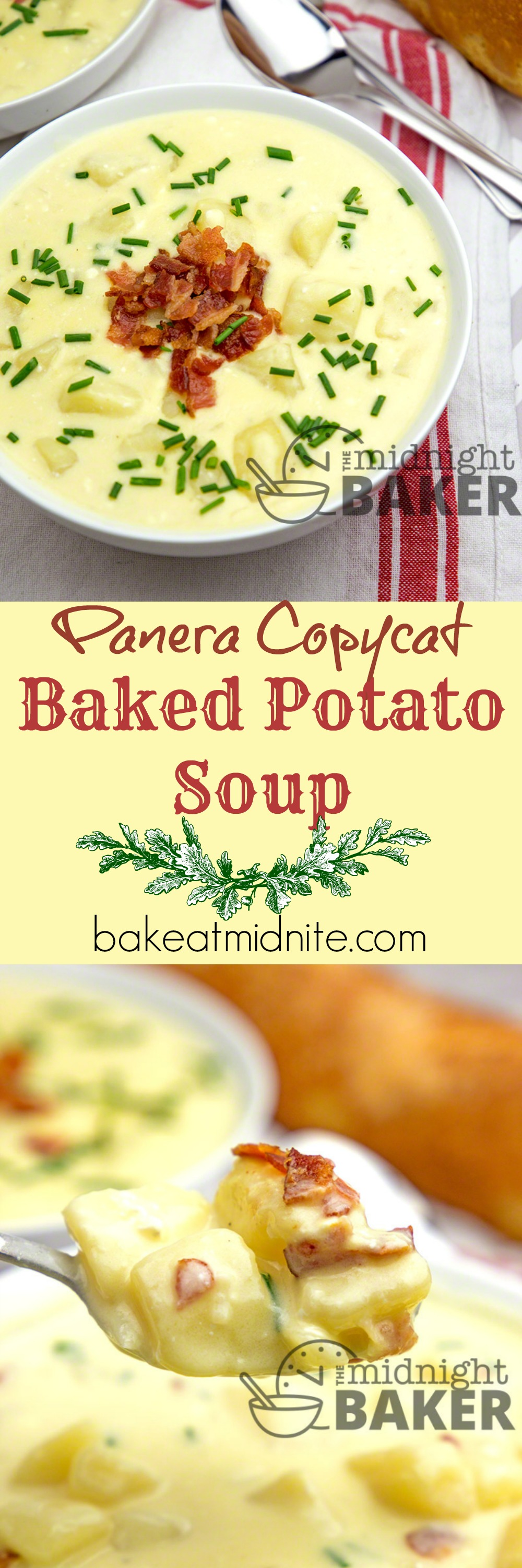 If you love Panera's baked potato soup, you'll love this copycat recipe!
