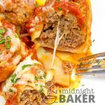 Pasta shells stuffed with savory ground beef and oodles of mozzarella cheese--easy to make!