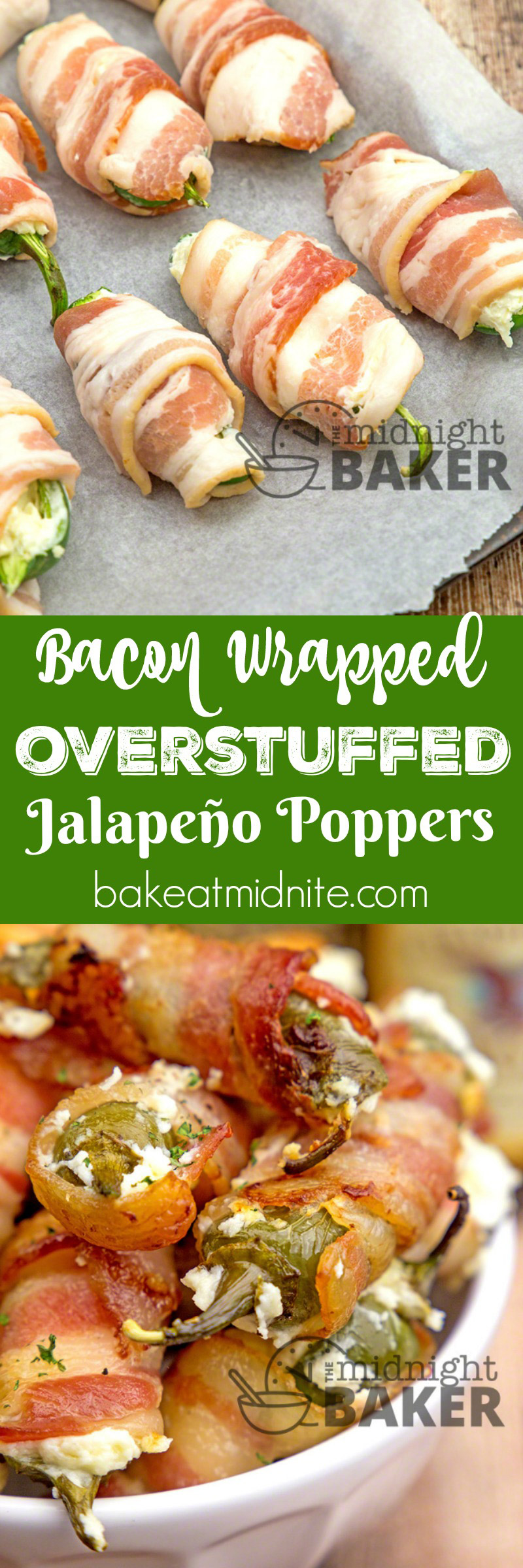 Jalapeño peppers stuffed to the max with a delicious cheese combo and wrapped in smoky bacon