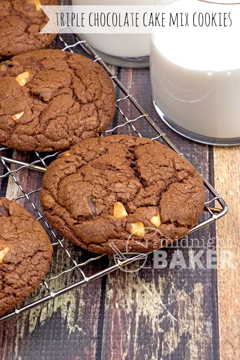 These easy chocolate cookies start with a cake mix, but you won't believe how awesome they taste!