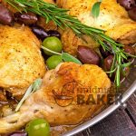 A chicken cacciatore from Umbria in central Italy. The olives give this great flavor! Easy too!