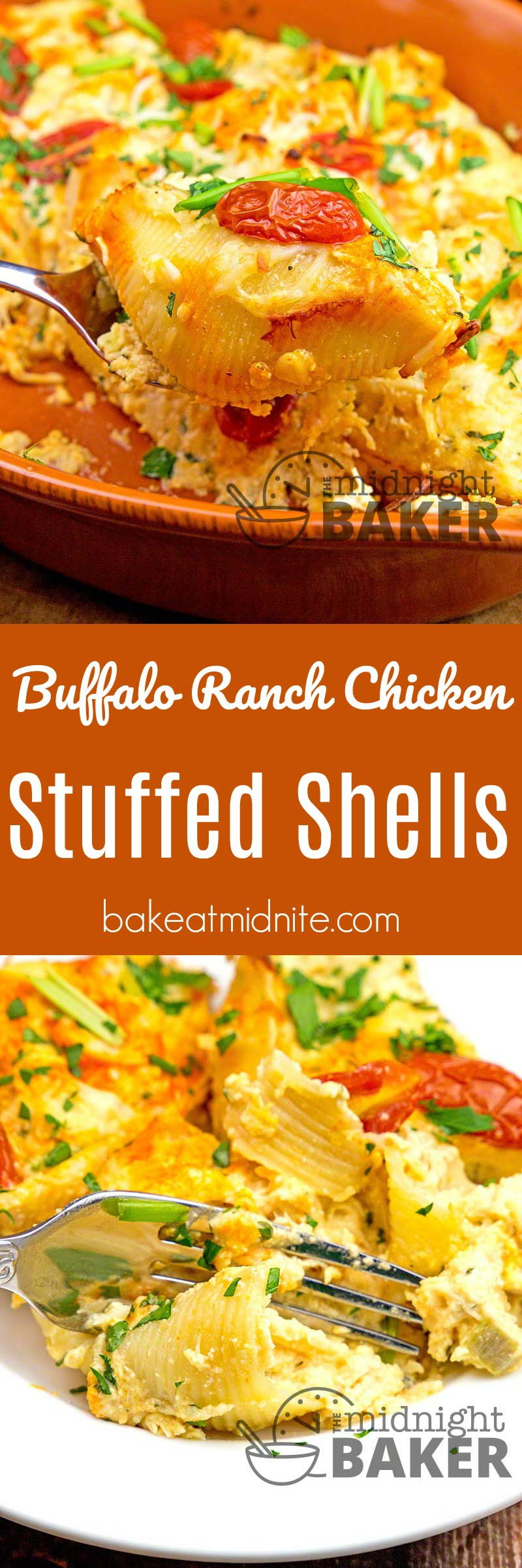 If you love buffalo chicken and a hint of ranch flavoring, you'll love these stuffed pasta shells.