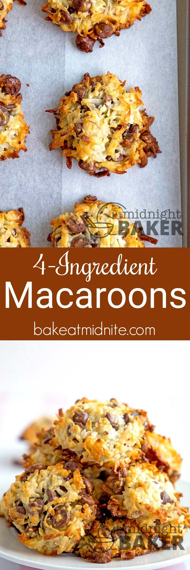 If you've got a late-night hankering for something sweet, these macaroons come together in a jiffy and you probably have the 4 ingredients to make them in your pantry!