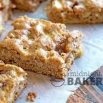 These apple bars are a taste of fall! Low in fat and made with white whole wheat flour, so they're a healthy choice. May also be made with all-purpose flour.
