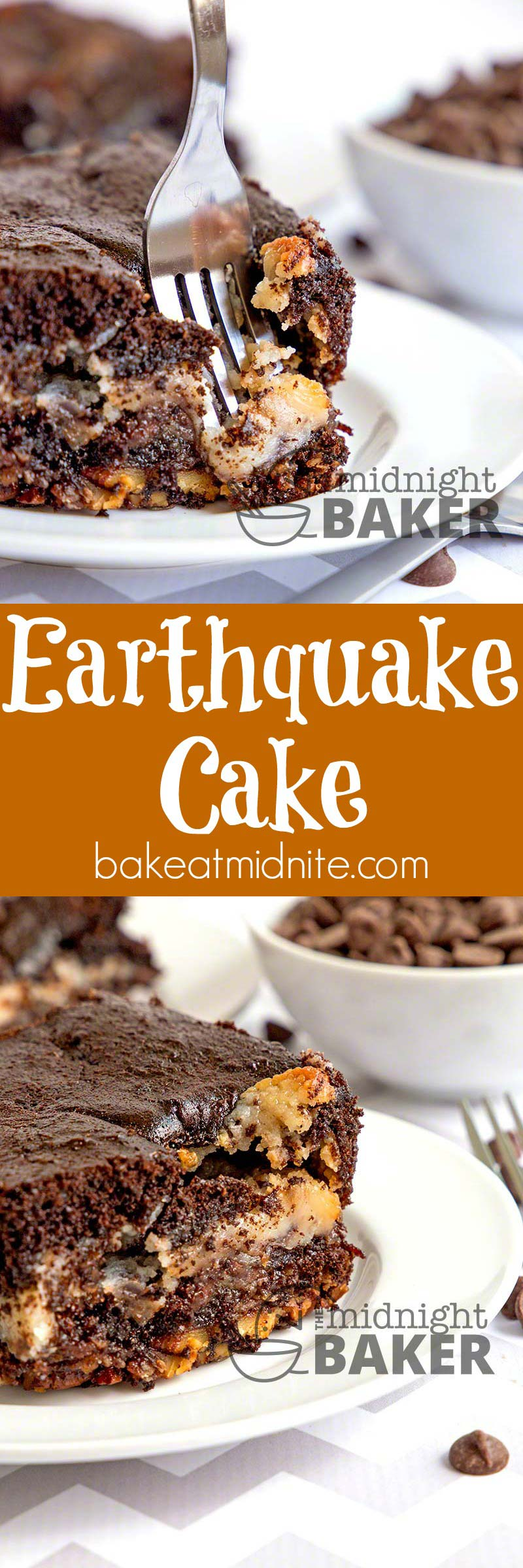 Earthquake cake is a flavor explosion in your mouth--gooey, creamy and nutty! In a word, fabulous!