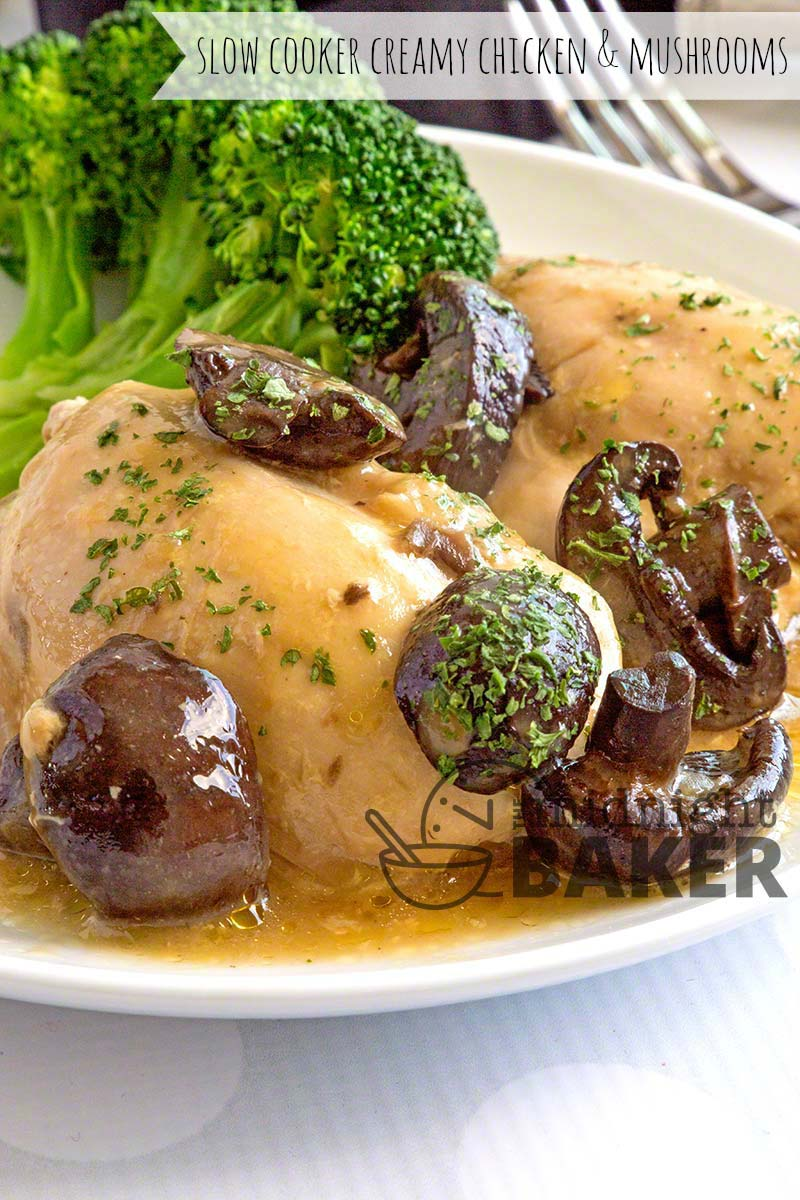 Simple chicken and mushroom comfort dinner and your slow cooker does all the work.