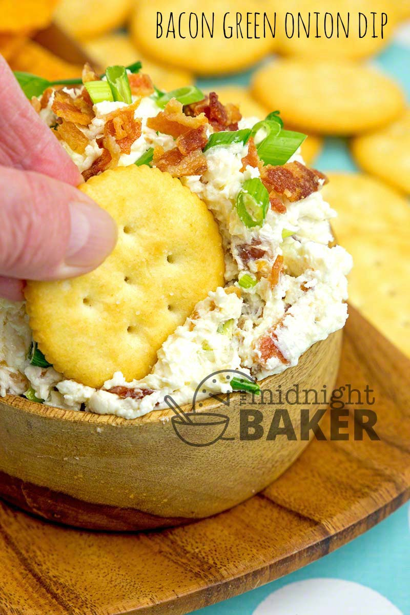BACON GREEN ONION DIP THE MIDNIGHT BAKER