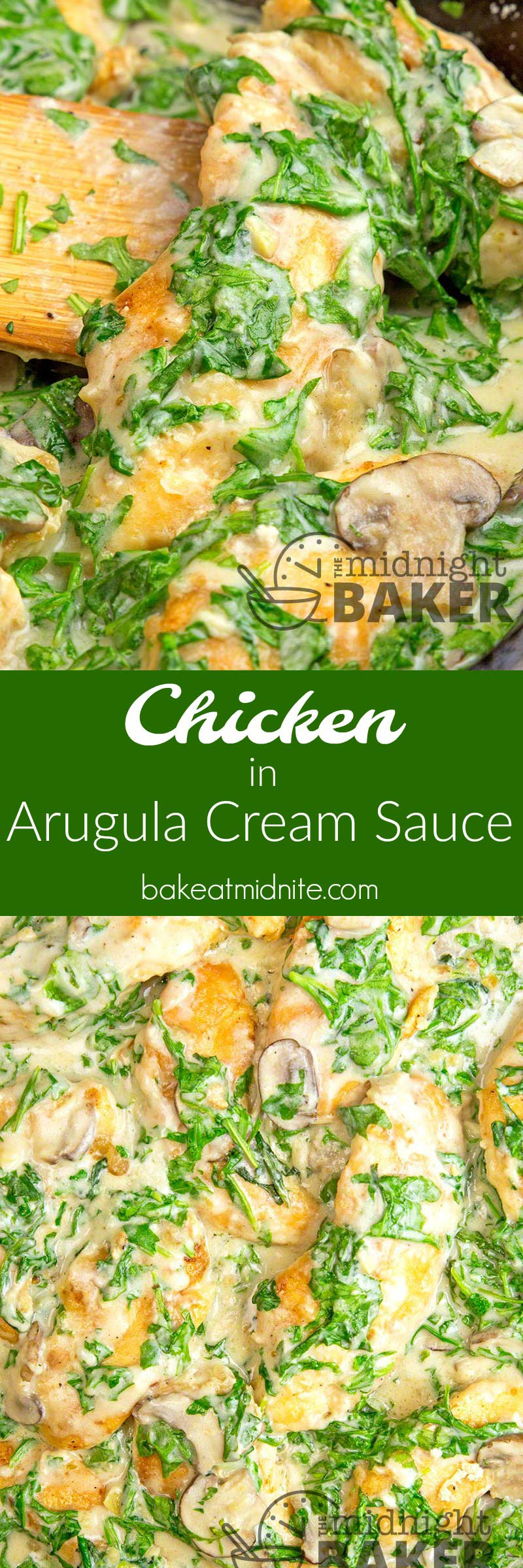 If you love arugula (rocket), then you'll love this quick and easy chicken skillet dinner!