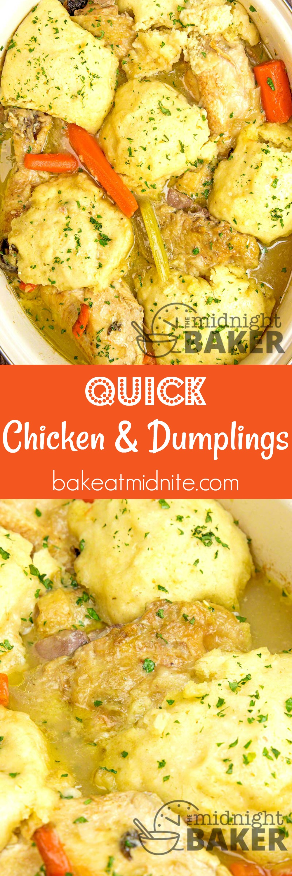 Quick and tasty chicken and dumplings