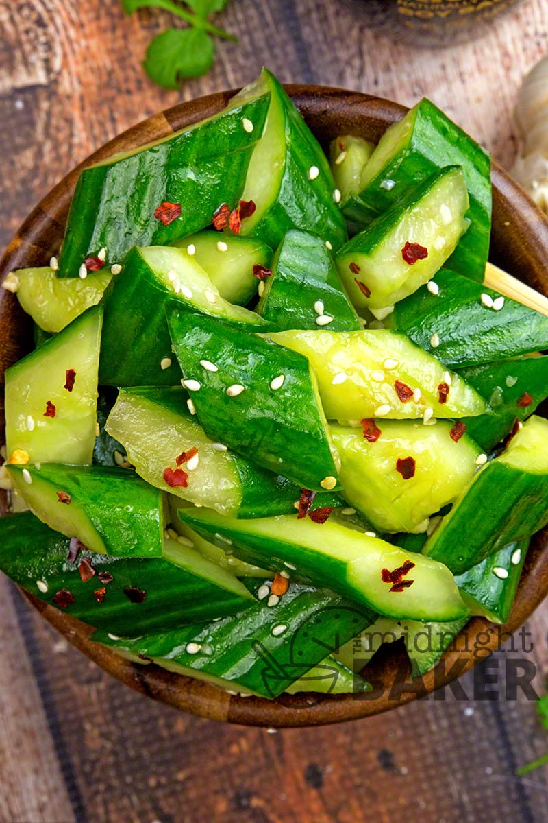 This cucumber salad is bright and refreshing with a hint of nuttiness from sesame! Cooling and perfect for a summer BBQ