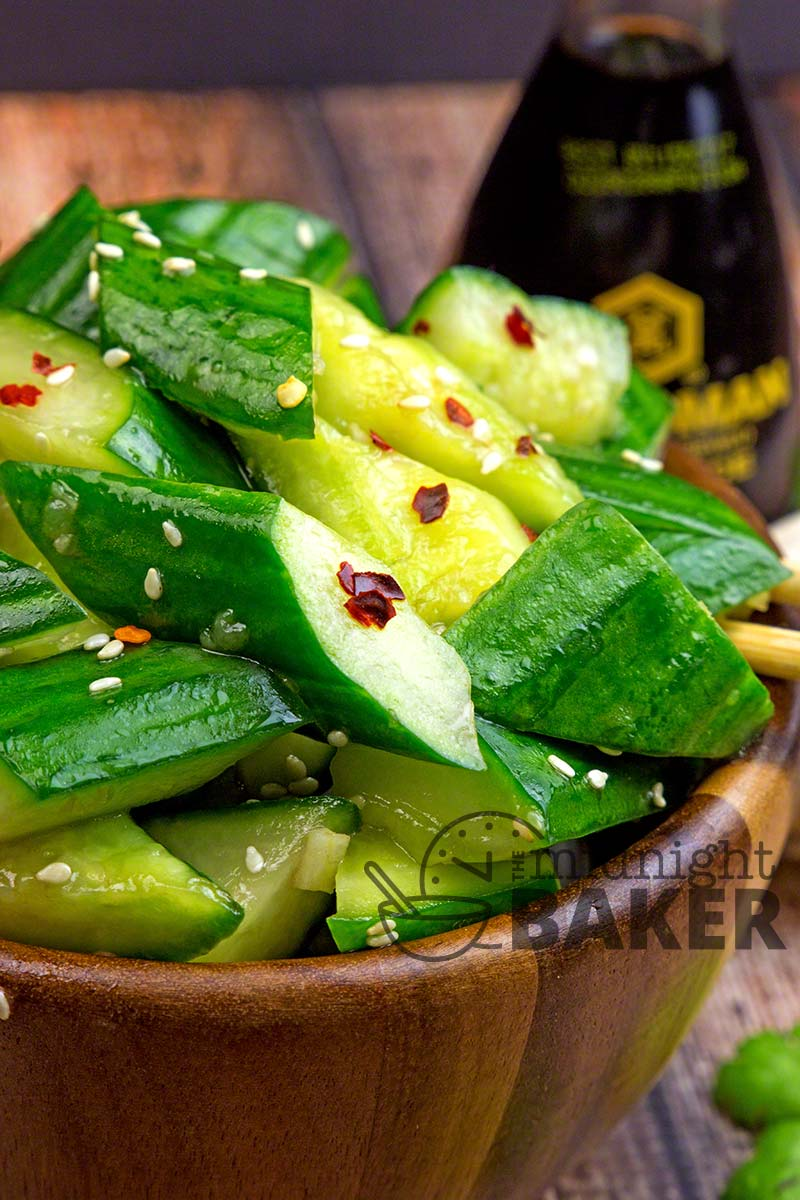 Asian Cucumber Salad - The Midnight Baker-9595