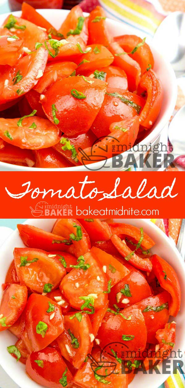 Delicious and refreshing tomato salad is perfect for summer.