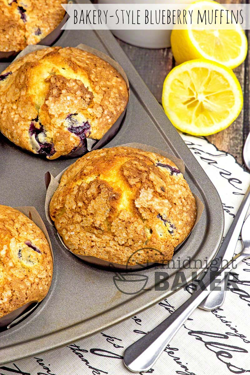 Big and caky--blueberry muffins just like the bakery kind.